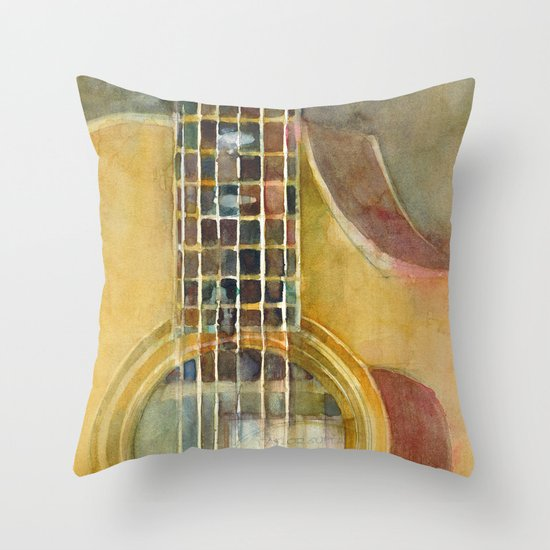 Acoustic Guitar - Taylor Throw Pillow