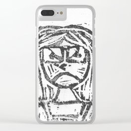 Angry Clear iPhone Case