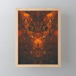 Fire mask Framed Mini Art Print
