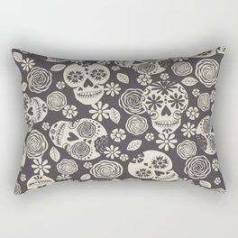 Sugar Skulls - Black & White Rectangular Pillow