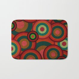"""Retro Colorful Circles"" Bath Mat"