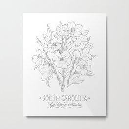 South Carolina Sketch Metal Print