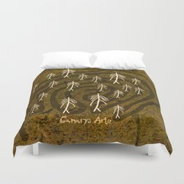 Ethnic 4 Canary Islands / Crowd in the Maze Duvet Cover