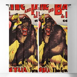 1938 Ringling Brothers and Barnum & Bailey Big Top 'GARGANTUA the Great' Circus Poster Blackout Curtain