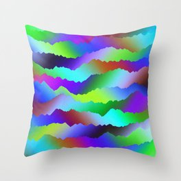 Ripped Paper Retro Throw Pillow