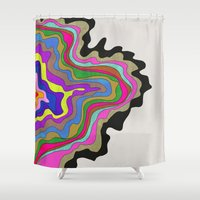 coasters Shower Curtains featuring Color Wave by Georgiana Paraschiv