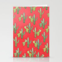 cacti Stationery Cards featuring Cacti by Megan Dignan