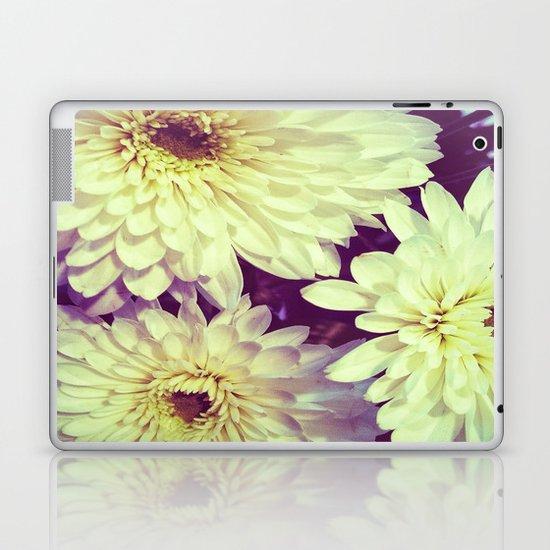 White Flowers Laptop & iPad Skin