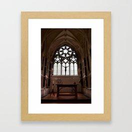 Gothic Pulpit Framed Art Print