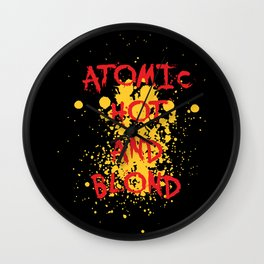 Atomic, hot and  Blond | Girl Power Wall Clock