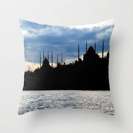 Sultanahmet Camii Skyline Istanbul Turkey Throw Pillow