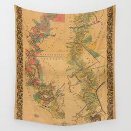 Map of Mississippi River 1858 Wall Tapestry