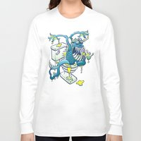 toilet Long Sleeve T-shirts featuring Toilet Monster by Zoo&co on Society6 Products