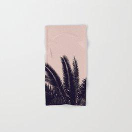 PALM TREE ROSE BLACK Hand & Bath Towel
