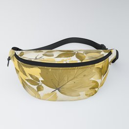 Watercolor Autumn Leaves 10 Fanny Pack