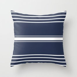 Lines on Blue Throw Pillow