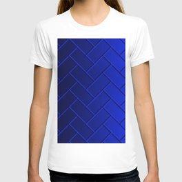 Herringbone Gradient Dark Blue T-shirt