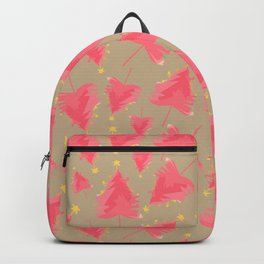 Pink Christmas Tree Backpack