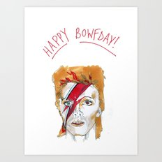 Bowie birthday card Art Print