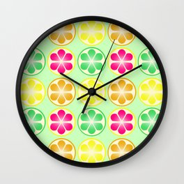 Citrus Party Wall Clock