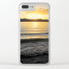 Fading Gold Clear iPhone Case