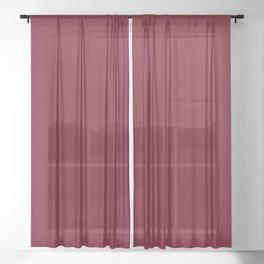 Dark Burgundy Red Brush Texture Sheer Curtain