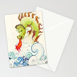 A happy dragon Stationery Cards