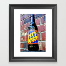 Retro root beer Framed Art Print