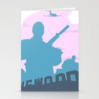 gta Stationery Cards featuring GTA V - MICHAEL DE SANTA by ahutchabove