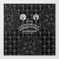 ouija Canvas Prints featuring OUIJA by DIVIDUS