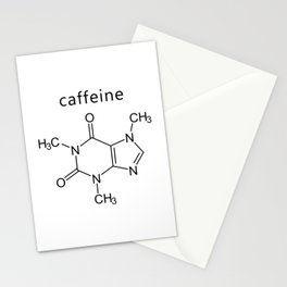 caffeine molecule formula Stationery Cards