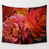 spanish Wall Tapestries featuring Spanish Dancer Roses by Regina Mountjoy