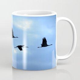 Welcome back! Cranes in flight #decor #society6 Coffee Mug
