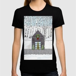 Christmas Cabin In The Snowy Woods T-shirt