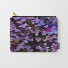 Foliage Abstract In Blue, Pink and Sienna Carry-All Pouch