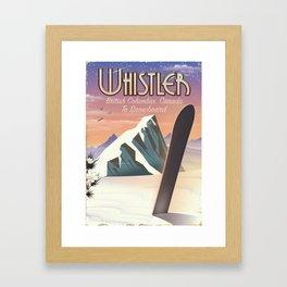 Whistler British Columbia Canadian Snowboarding Framed Art Print