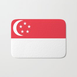 Singapore Flag Bath Mat