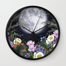 Midnight in the Garden II Wall Clock