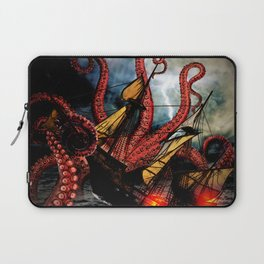 In the Grasp of the Storm Laptop Sleeve