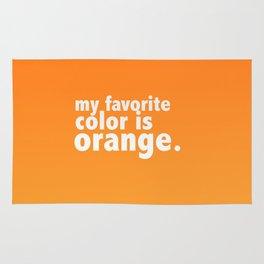 My Favorite Color is ORANGE Rug