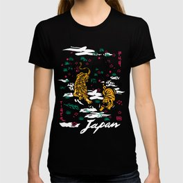 Tiger and Pug Japanese style T-shirt