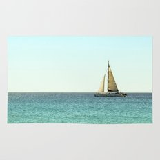 Sail Away with Me - Ocean, Sea, Blue Sky and Summer Sun Rug