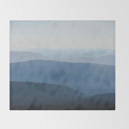 Smoky Blue Mountains Throw Blanket