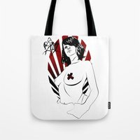 girl power Tote Bags featuring Girl Power by Sirenphotos