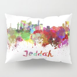 Jeddah skyline in watercolor Pillow Sham