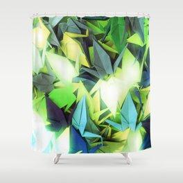 Senbazuru | yellows n blues  Shower Curtain
