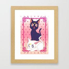 Luna e Artemis  Framed Art Print
