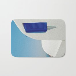 Santorini Blue & White Window Bath Mat