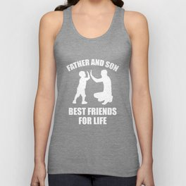 Father and son, best friends for life Unisex Tank Top