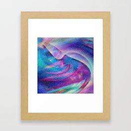 Colorful Hurricane Digital Painting Framed Art Print